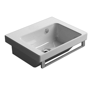 STOCK GSI Norm 42 Wall Mounted 1 Tap Hole Washbasin GS8684-0