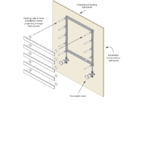 Installation Frame for 4 Bard & Brazier Floating Rails
