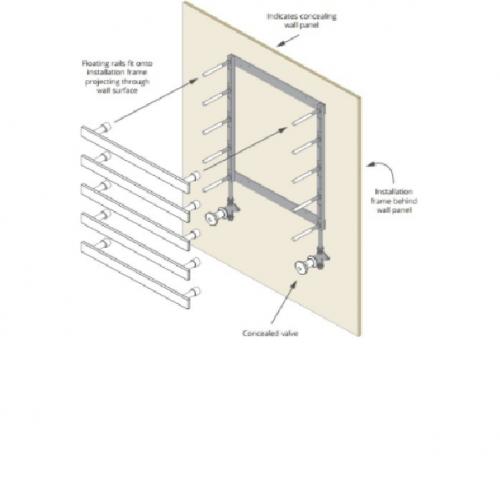 Installation Frame for 4 Bard & Brazier Floating Rails
