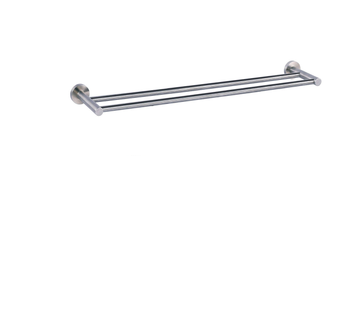 Just Taps Plus Inox stainless steel double towel rail IX170
