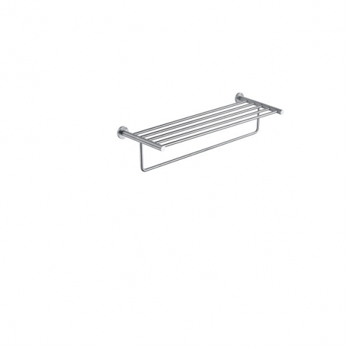 Just Taps Inox stainless steel towel shelf with bar IX181
