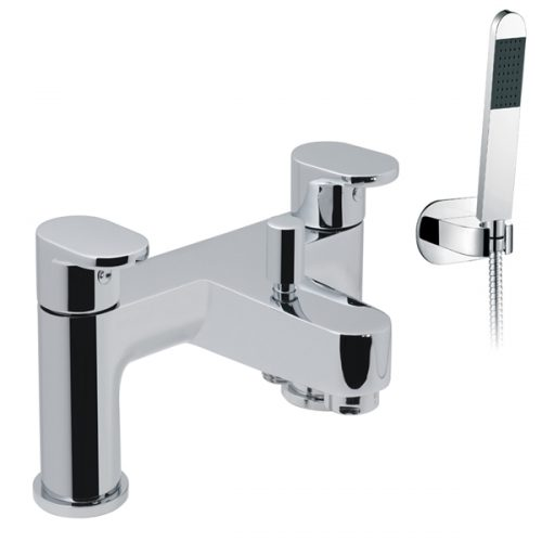 Vado 2 hole bath shower mixr deck Mtd & kit LIF-130+K-C/P