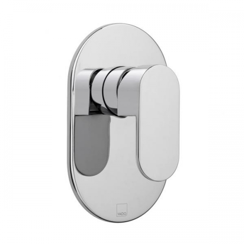 Vado Life Chrome Single Lever Concealed Manual Shower Valve-0