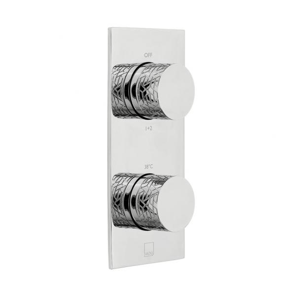 Vado Omika Tablet 2 Outlet 2 Handle Vertical Thermostatic Valve-0