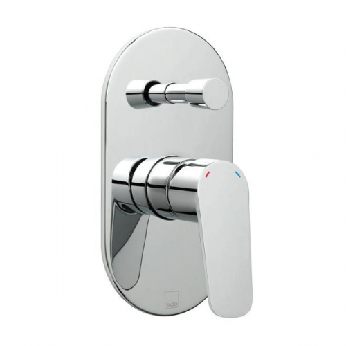 Vado Photon Chrome Concealed Shower Valve With Diverter-0
