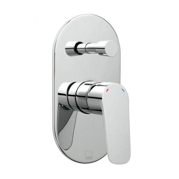 Vado Photon Chrome Concealed Shower Valve With Diverter-0