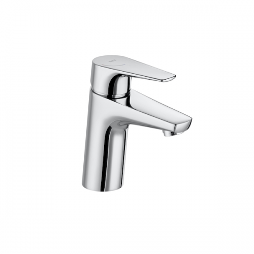 Roca Atlas Smooth Bodied Chrome Single Lever Basin Mixer Tap-0