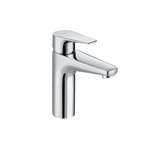 Roca Atlas 184mm Medium Height Smooth Bodied Basin Mixer-0
