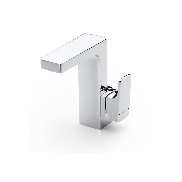 Roca L90 Side Handle Chrome Basin Mixer With Pop Up Waste-0