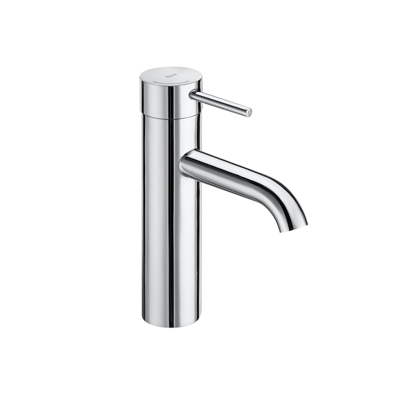 Roca Lanta 208mm Medium Height Smooth Bodied Basin Mixer-0