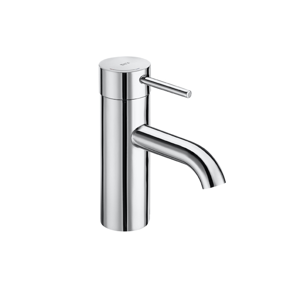 Roca Lanta Single Lever Chrome Smooth Bodied Basin Mixer -0