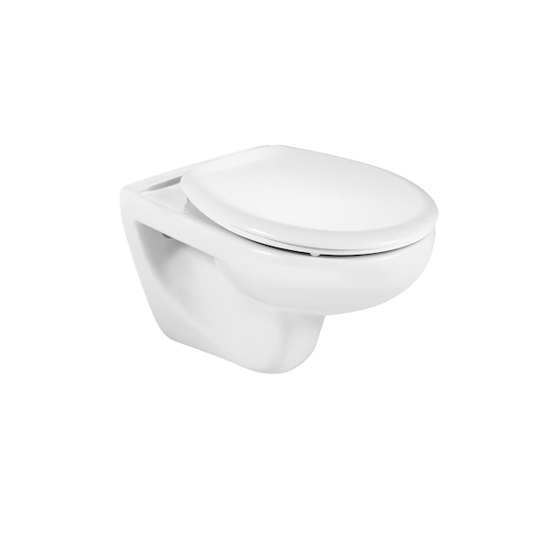 Buy Roca Laura 555mm Projection Wall Hung Pan and Seat-0
