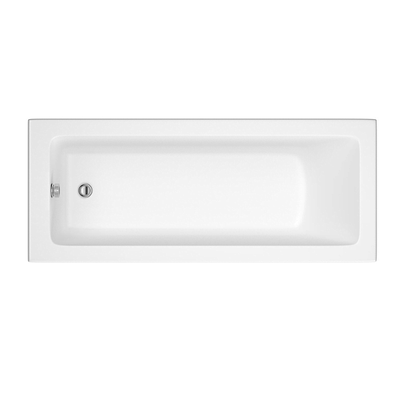 Roca The Gap 160x70cm Single Ended No Tap Hole Acrylic Bath-0