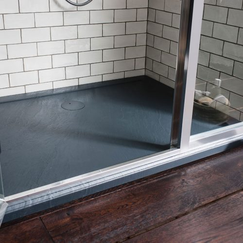 Simpsons 1200mm x 760mm Grey Slate Anti-Slip Shower Tray GY0R71200