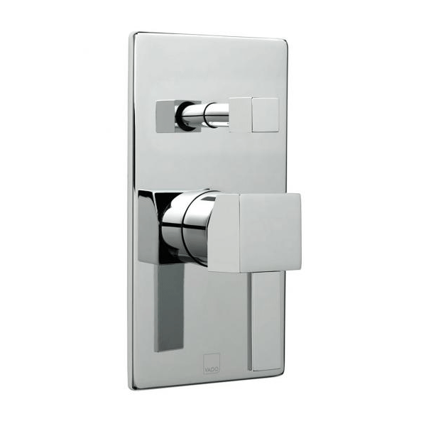 Vado Te Chrome Concealed Manual Shower Valve With Diverter-0