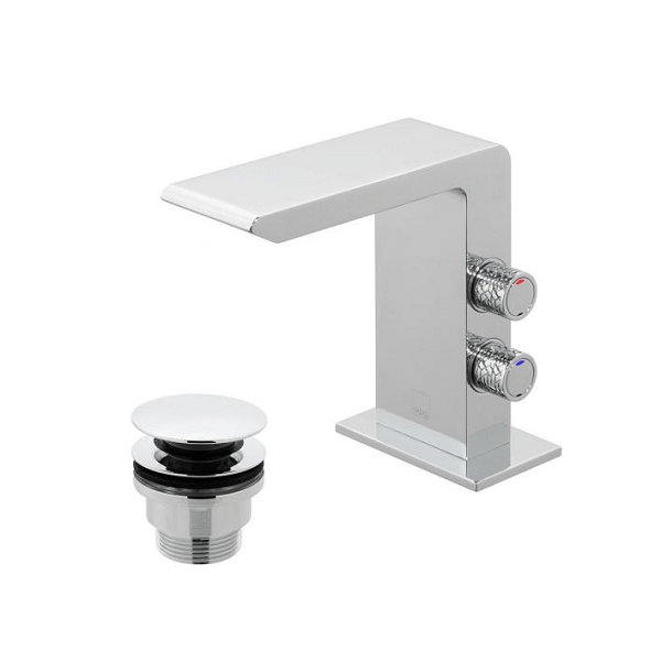 Vado Omika Chrome Basin Mixer With Universal Clicker Waste-0