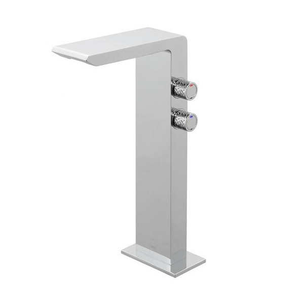 Vado Omika Chrome Smooth Bodied Tall Basin Mixer Tap-0