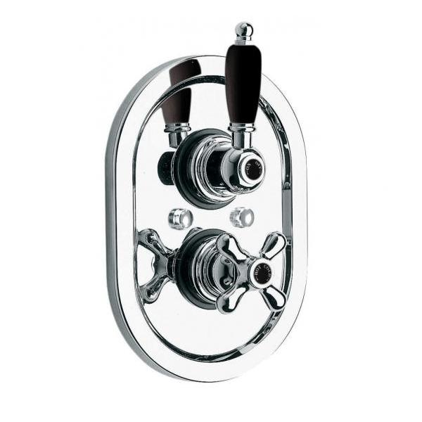 Vado Westbury Black Lever 1 Outlet Thermostatic Shower Valve-0