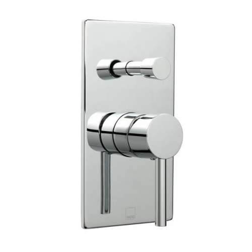 Vado Zoo Square Plate Concealed Shower Valve With Diverter -0