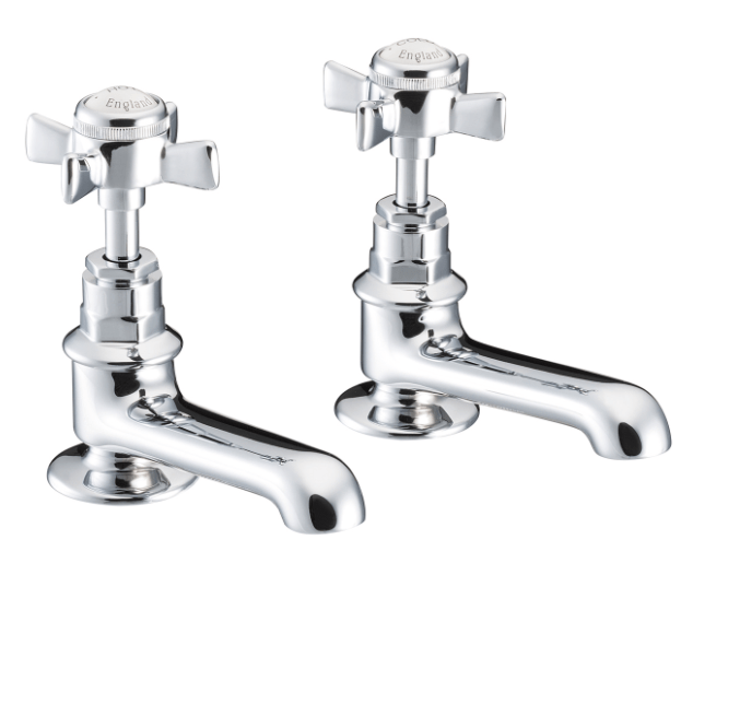St James Collection English Handle Basin Taps SJ150-CP-EH