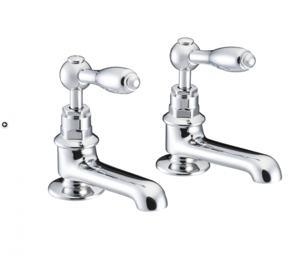 St James Collection English Lever Basin Taps SJ150-CP-EL