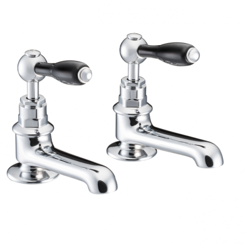 St James Collection Black English Lever Basin Taps SJ150-CP-ELBK