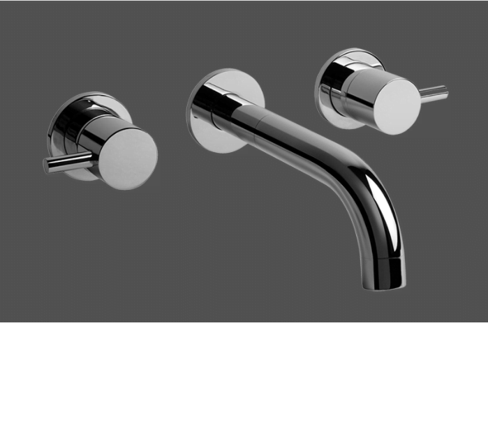 Graff Me Wall Mounted Three Hole Basin Mixer Trim Kit 2342900BK