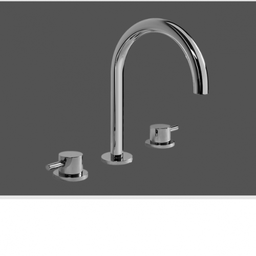 Graff Me Three Hole Deck Mounted Basin Mixer 2392600BK