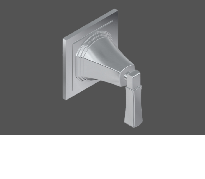 Graff Finezza Uno Polished Chrome American Made 3/4 Concealed Diverter with 3 Outlets - Exposed Parts In London