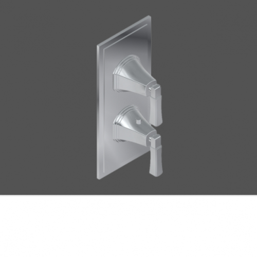 Graff Finezza Uno Polished Chrome American Made 3/4 Concealed Diverter with 3 Outlets and Control Valve - Exposed Parts
