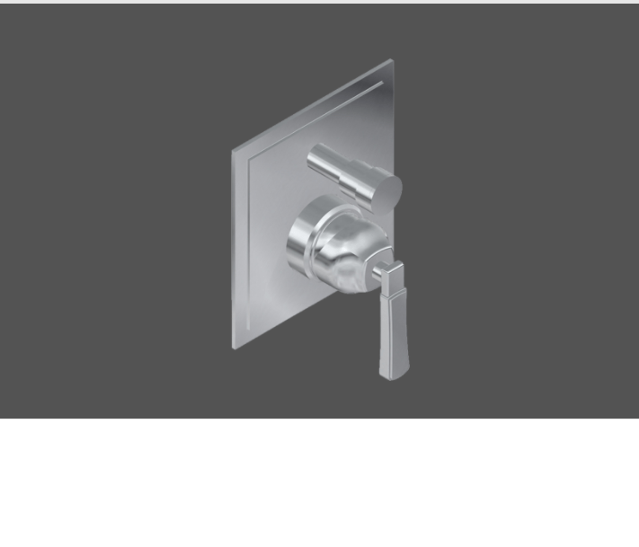 Graff Finezza Uno Polished Chrome American Made 1/2 Concealed Shower Mixer with Diverter - Exposed Parts In London