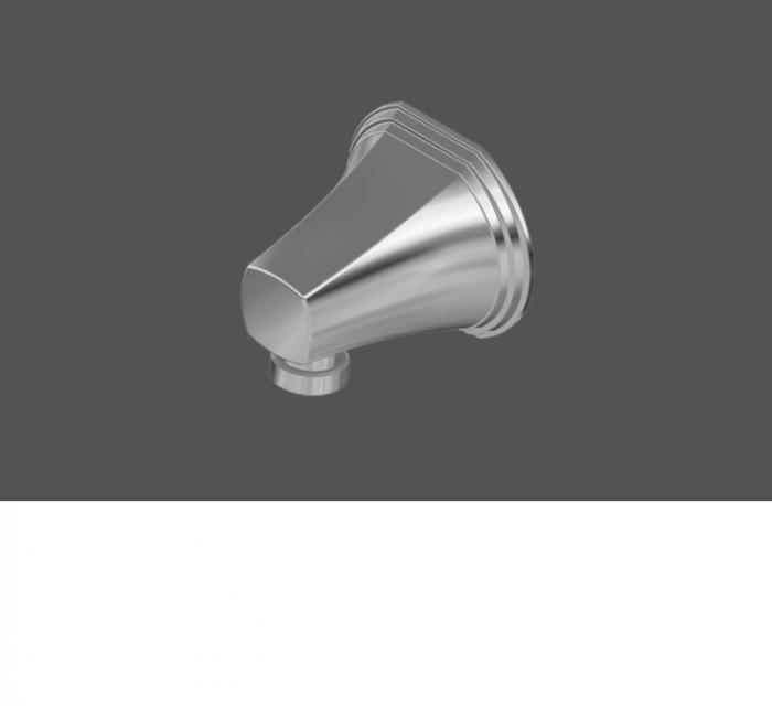 Graff Finezza Uno Polished Chrome Wall Supply Elbow