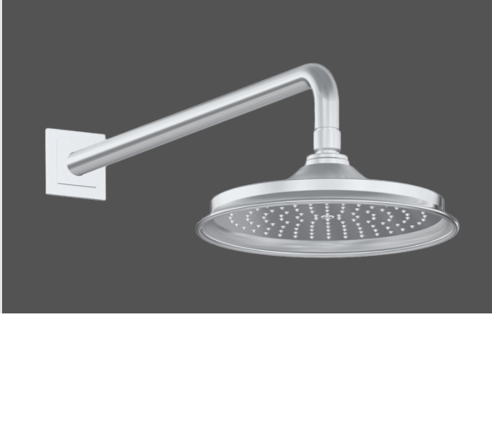 Graff Finezza Uno Polished Chrome American Made Shower Head and Arm - Complete Set In London