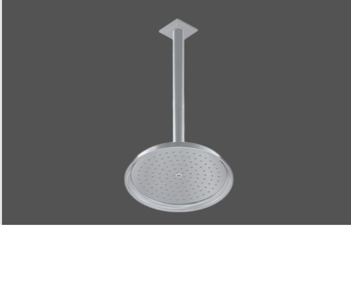 Graff Finezza Uno Polished Chrome American Made Shower Head and Arm - Complete Set In London 5163400