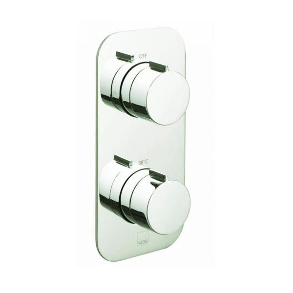 Vado Altitude Tablet 2 Outlet 2 Handle Thermostatic Valve-21757