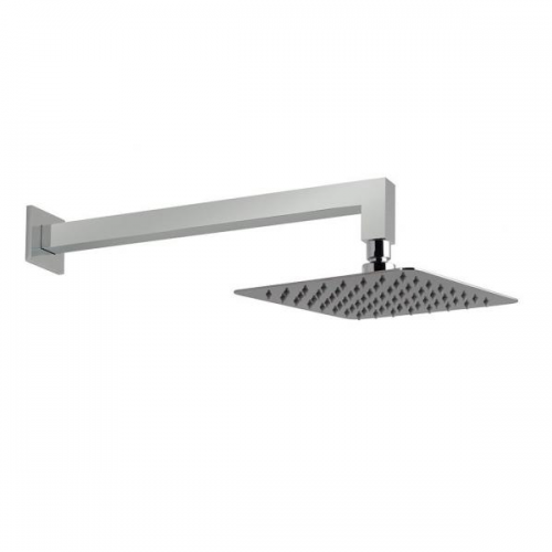 Vado Aquablade 200mm Wall Mounted Square Head and Arm-0