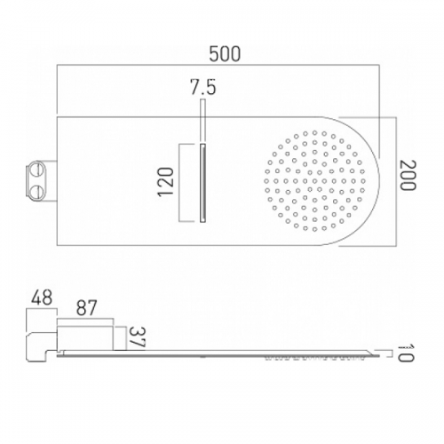 Vado Aquablade 2 Function Round Wall Mounted Shower Head-20848