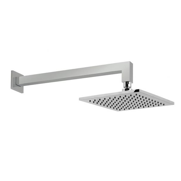 Vado Atmosphere Chrome Easy Clean 200mm Square Head And Arm-0