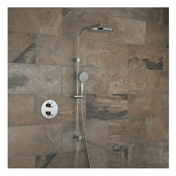 Vado Celsius Concealed Thermostatic Rigid Riser Shower Kit-0