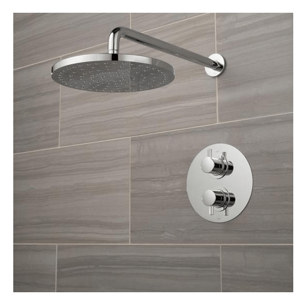 Vado Celsius Single Outlet Shower Valve With Round Fixed Head-21528