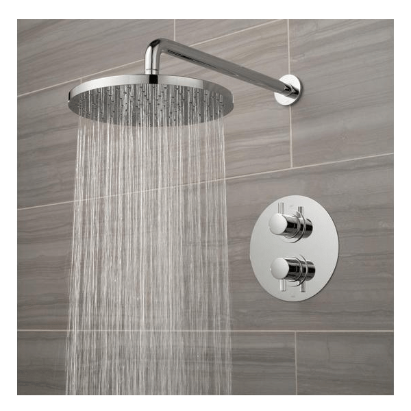 Vado Celsius Single Outlet Shower Valve With Round Fixed Head-0
