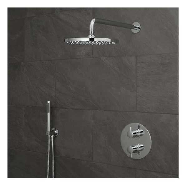 Vado Celsius 2 Outlet Shower Valve With Fixed Head & Shower Kit-0