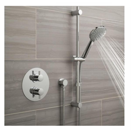 Vado Celsius Single Outlet Shower Valve With Slide Rail Kit-0