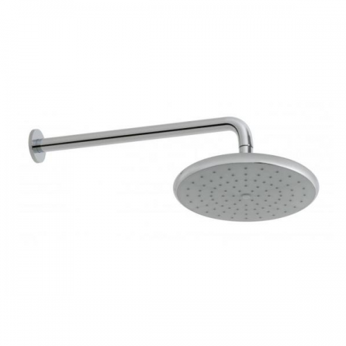 Vado Ceres Chrome 235mm Shower Head And Wall Mounted Arm-0