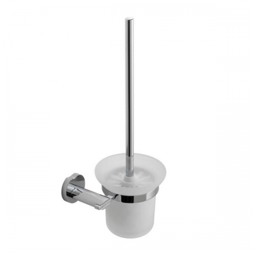 Vado Kovera Wall Mounted Toilet Brush With Glass Holder-0