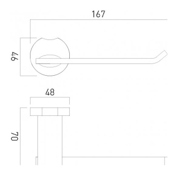 Vado Kovera Chrome Wall Mounted Toilet Paper Holder-20988