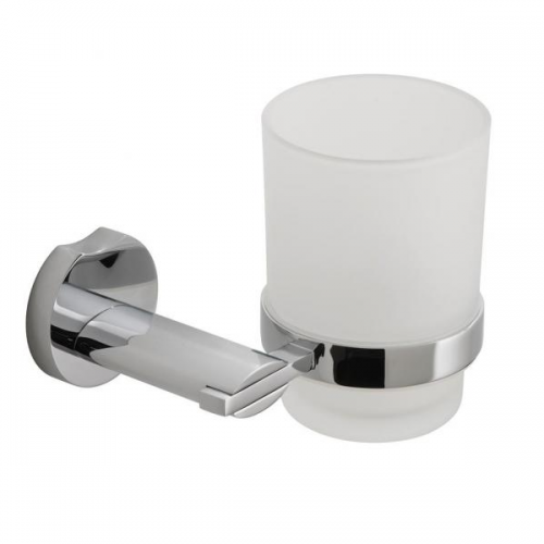 Vado Kovera Wall Mounted Frosted Glass Tumbler and Holder-0