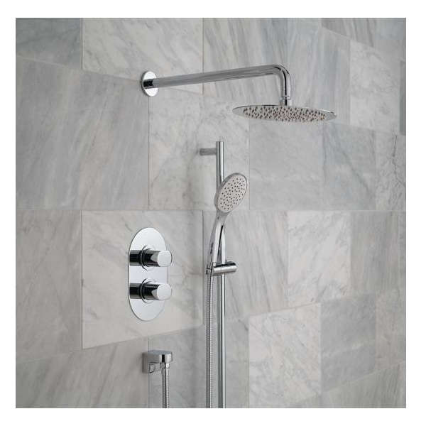 Vado Life 2 Outlet Shower Valve With Fixed Head & Shower Kit-21381