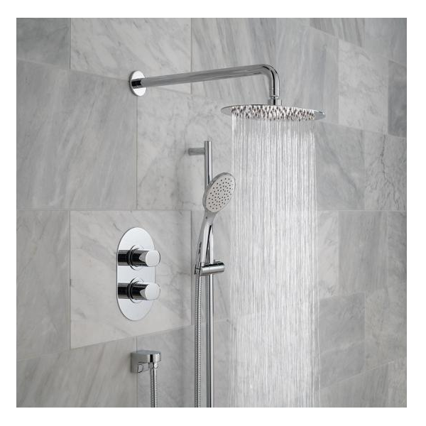 Vado Life 2 Outlet Shower Valve With Fixed Head & Shower Kit-0