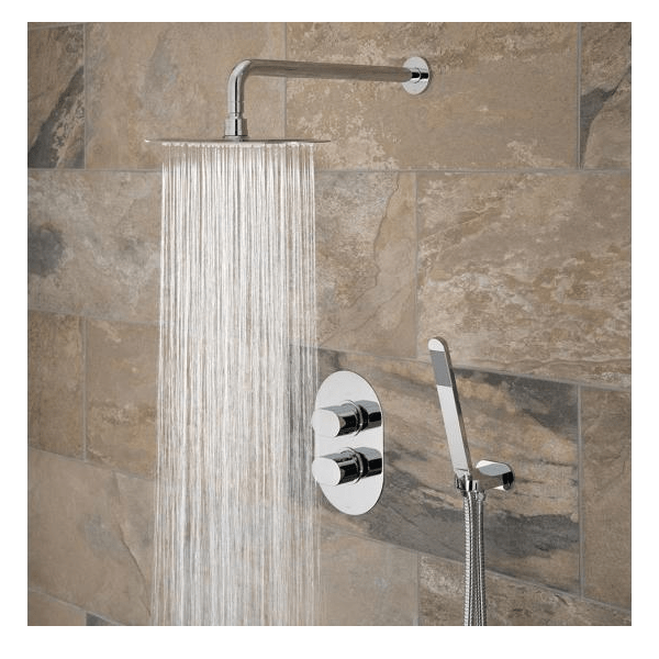 Vado Life 2 Outlet Shower Valve With Fixed Head & Shower Kit-21370